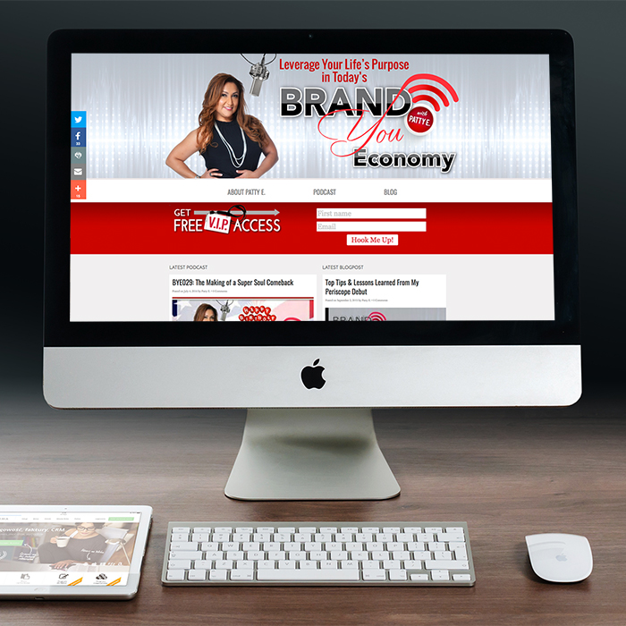 Brand You Economy web design